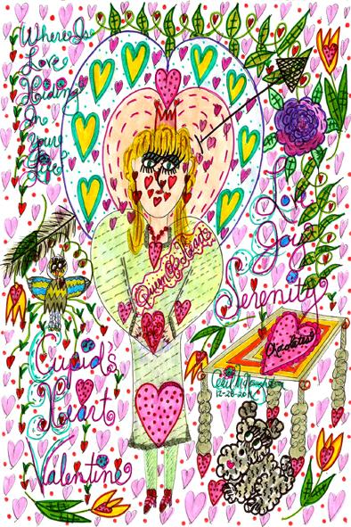 Valentine Face Doodle Art