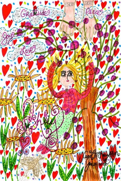 Ashley's Return Home To Heaven – Poem & Doodle Art