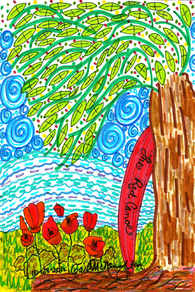 Poppies & The Red Canoe