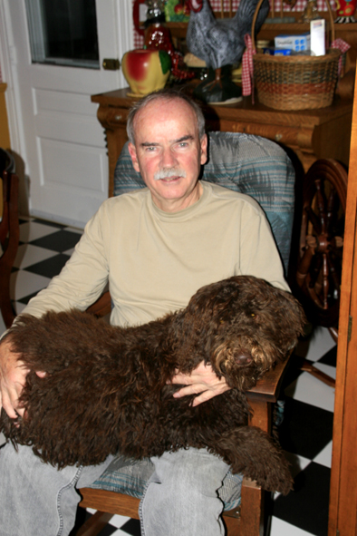 Bob Holding Truffles 7 months old 2012