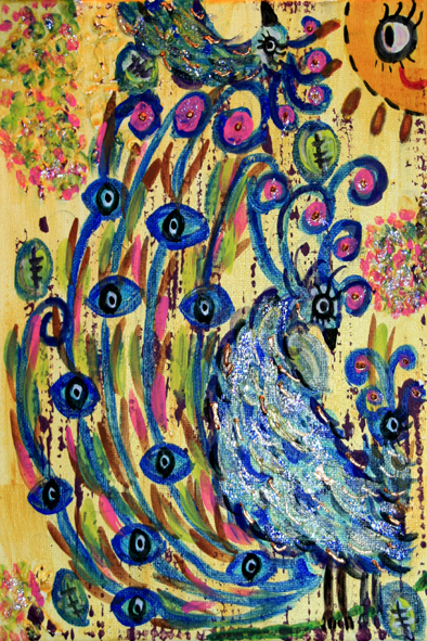 Peacock With Seeing Eyes