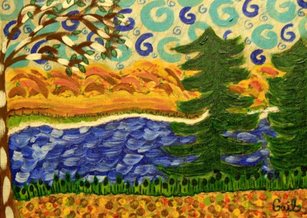 International Women's Day – Meditation Escape Mixed Media Painting