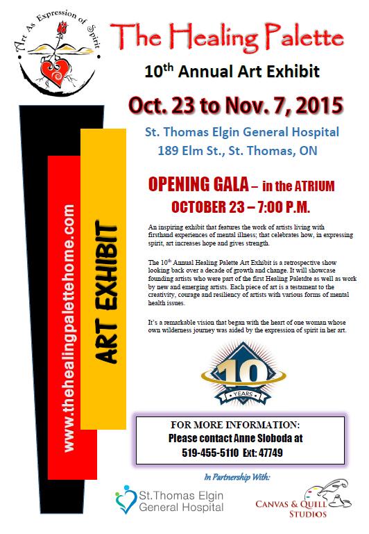 10th annual  Healing Palette Art Exhibit