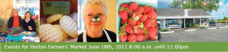Events for Horton Farmers' Market June 18th, 2011